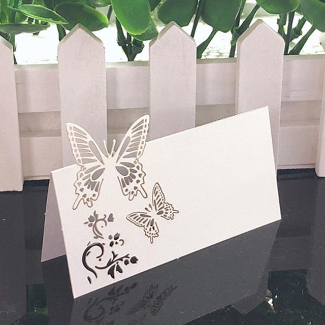 White Lace Name Place Cards -50pcs