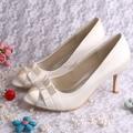 Wedopus Elegant Pleated Open Toe Heels Shoe Outlet Women Shoes High Heels Ivory