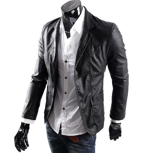 Popular Mens Faux Leather Blazer-Buy Cheap Mens Faux Leather