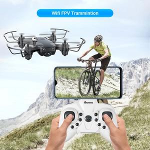 Image 2 - Мини Дрон Eachine E61hw с HD камерой 720P, Радиоуправляемый квадрокоптер с режимом удержания высоты, RTF Wi Fi FPV, складной вертолет, игрушки VS HS210