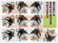 Free Shipping Good Quality 10 PCS Nema23 Single Shaft Stepper Motor 57BYGH420 185oz In CNC Router