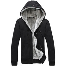 2016 autumn and winter plus thick velvet style casual men's large size sportswear fashion Slim warm hoodies jacket