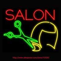Salon Haircut Neon Signs Board Neon Bulbs Light Real GlassTube Handcrafted Beer Bar Pub Led Signs