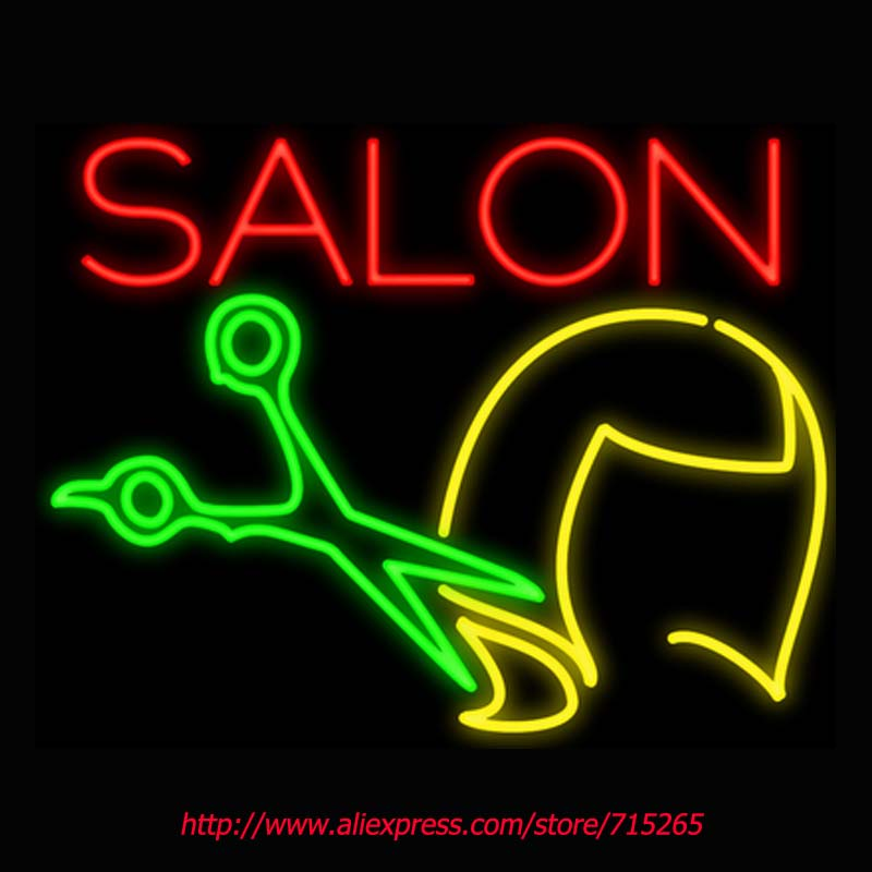 Salon Haircut Neon Signs Board Neon Bulbs Light Real GlassTube Handcrafted Beer Bar Pub Led Signs Business Store Display 31x24