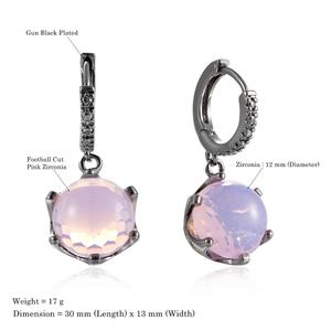 Image 5 - DreamCarnival1989 Hot Selling Football Cut Cubic Zircon Earrings for Women Pink Color Crown Design Prong Dangle Jewelry WE3819PN