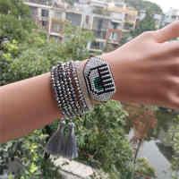 Go2boho Delica MIYUKI pulsera de mal de ojo 2019 mujeres joyería Pulseras turco ojo de la suerte mal Bileklik plata cristal regalo