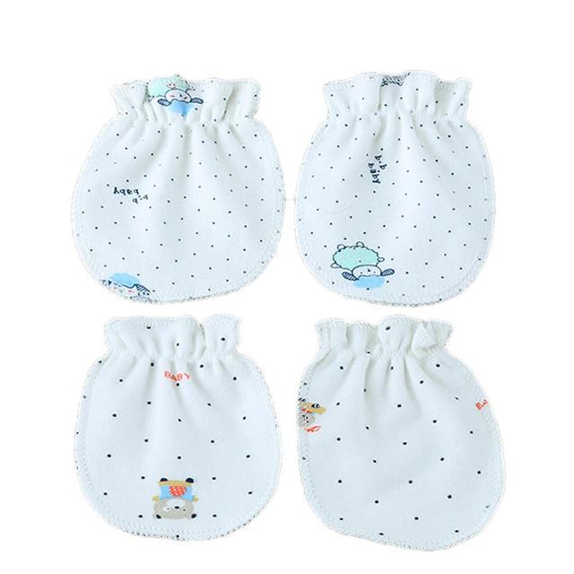 6417ef163de9 2 Pairs Fashion Newborn Cotton Gloves Soft Mittens Glove Baby Boys ...
