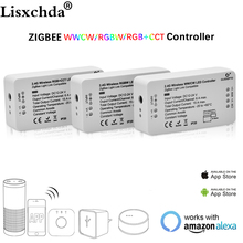 ZIGBEE Led Controller Echo compatible Smart LED controller RGBCCT/WW/CW zigbee controller LED Dimmer DC12 24V ZLL controller led