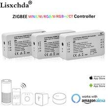 ZIGBEE Led Denetleyici Echo uyumlu Akıllı LED denetleyici RGBCCT/WW/CW zigbee denetleyici LED Dimmer DC12 24V ZLL denetleyici led
