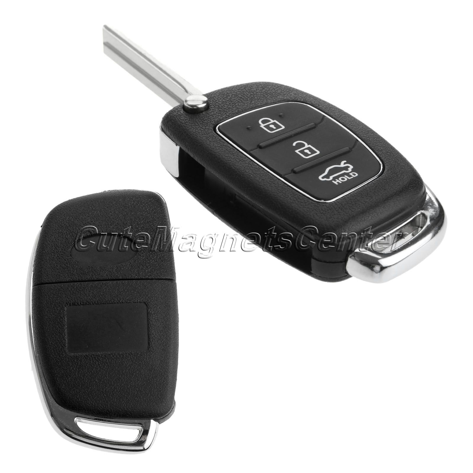 1Pc 3 Buttons Replacement auto parts Shell Flip Folding Remote Key Case Fob for HYUNDAI ix45 Santa Fe Keyless Entry Fob Cover