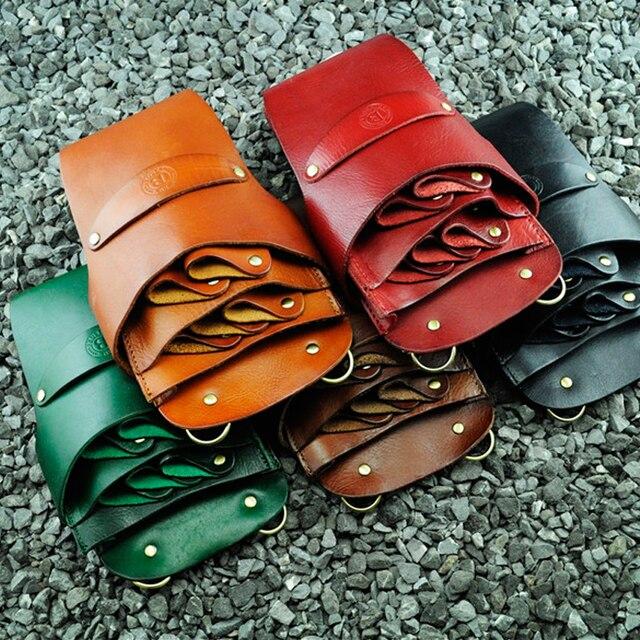 Leather Hairdresser Bag Salon Genuine Hairdressing Scissor Pouch Barber Holster Holder Case Waist Shoulder
