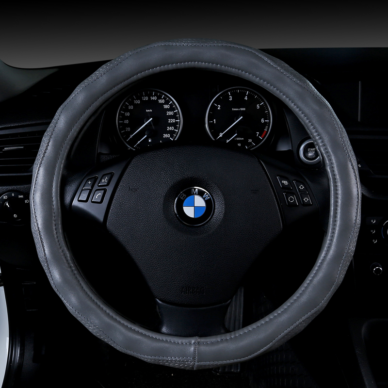 New 38CM Steering wheel Cover Microfiber Leather Steering Wheel Covers Non slip Skin Feel Car cover Car styling Accessories in Steering Covers from Automobiles Motorcycles