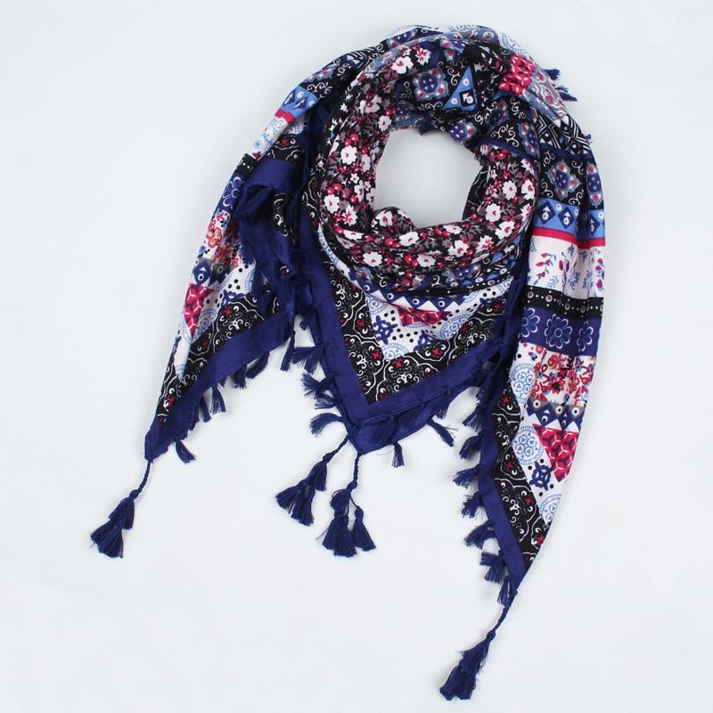 c0162652923 US $12.29 |2018 Hot Sale New Fashion Ladies Big Square Scarf Printed Women  Wraps Winter ladies Scarves cotton india floural headband CX003-in Women's  ...