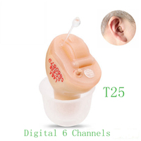 Fashion mini 6 Channels Digital Invisible Hearing Aids Elderly portable sound amplifier wish hearing aid Dropshipping