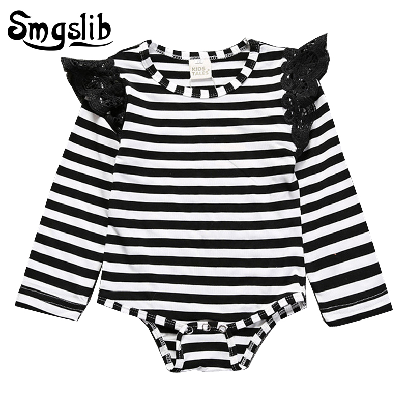 Baby girl summer clothes Princess Newborn Baby Clothes lace shoulder jumper romper Kids baby onesie Outfits Clothes 1st birthday