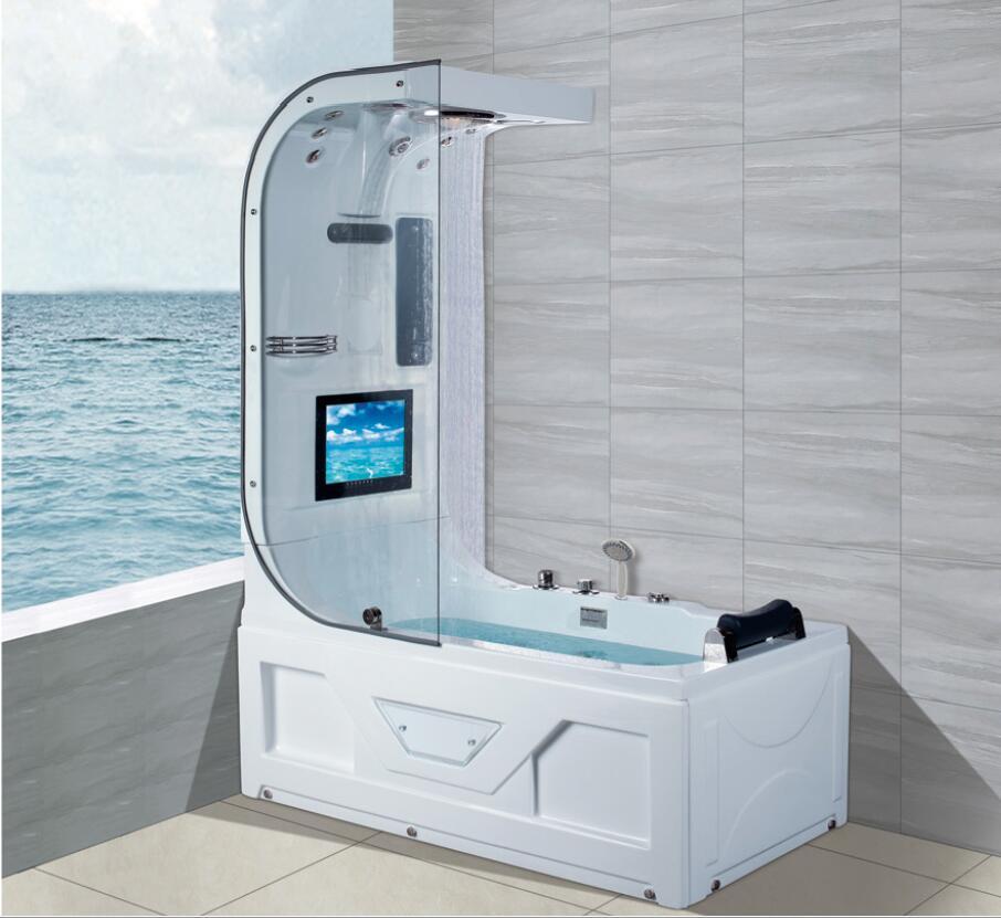 1600 luxo banheira de hidromassagem chuveiro superior tv surf & massagem banheira interior ns3220-3