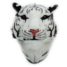 Личности прилив Новый стиль головы тигра пары Рюкзак белый и желтый 3D животного Тип унисекс путешествия рюкзак Для женщин Сумки