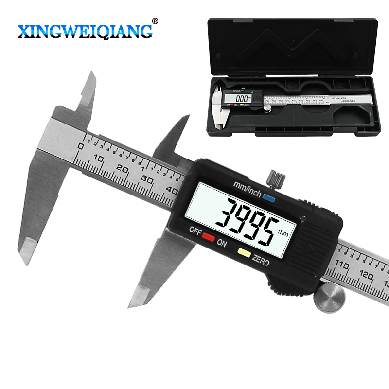 6 Polegada 0-150mm ferramenta de medição de aço inoxidável caliper digital vernier caliper
