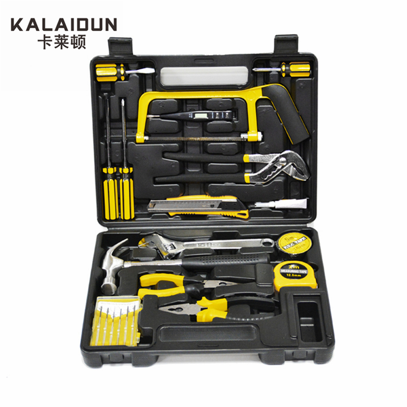 KALAIDUN 22pcs Household hand Tools Set Screwdriver Repair Tool Wrenches Saw Hammers  Tools set 14pcs the key with combination ratchet wrench auto repair set of hand tool kit spanners a set of keys herramientas de mano