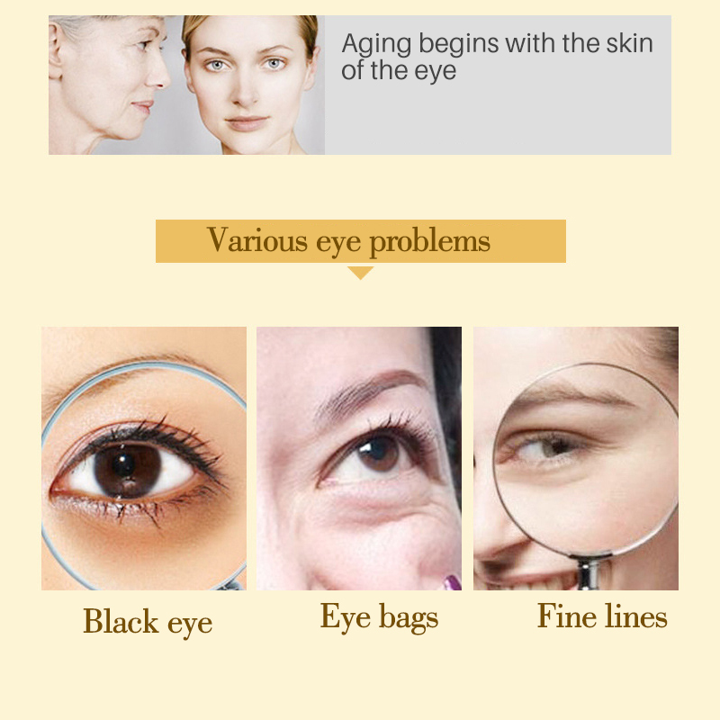 60 unids / botella EFERO Máscara de Ojo de Colágeno Anti Arrugas - Cuidado de la piel - foto 3