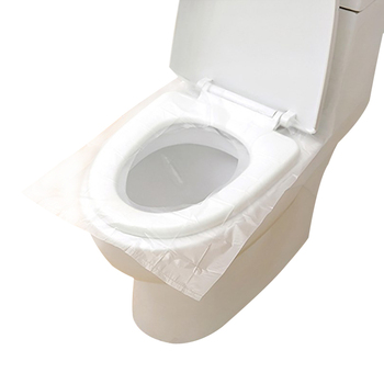 10pcsset PE Toilet Seat Covers Disposable One-Off Lid Rug Soft Cushion Protector Travel Business Bathroom Hotel Accessories toilet seat