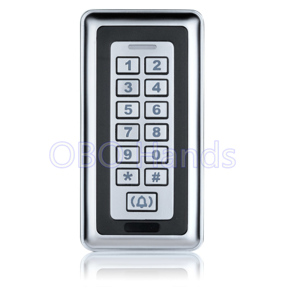 Free shipping silver waterproof metal access controller keypad RFID card reader coded door lock metal access control system-K87