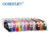 11 cores/conjunto T5961-T5969 t596a t596b cartucho de tinta compatível preenchido com tinta de pigmento para epson stylus pro 7900 9900 350 ml/pc