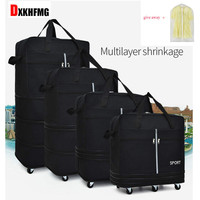 Air Checked Bag Large Capacity Abroad Study Abroad Travel Universal Wheel Foldable Luggage Moving Bag Rolling Backpack