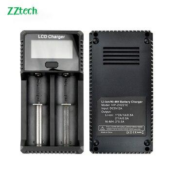 Original ZH-221 LCD 3.7V 1.2V E-cigarette charger 18650 18350 21700 26650 16340 14500 10440 18500 17670 Lithium Battery Charger