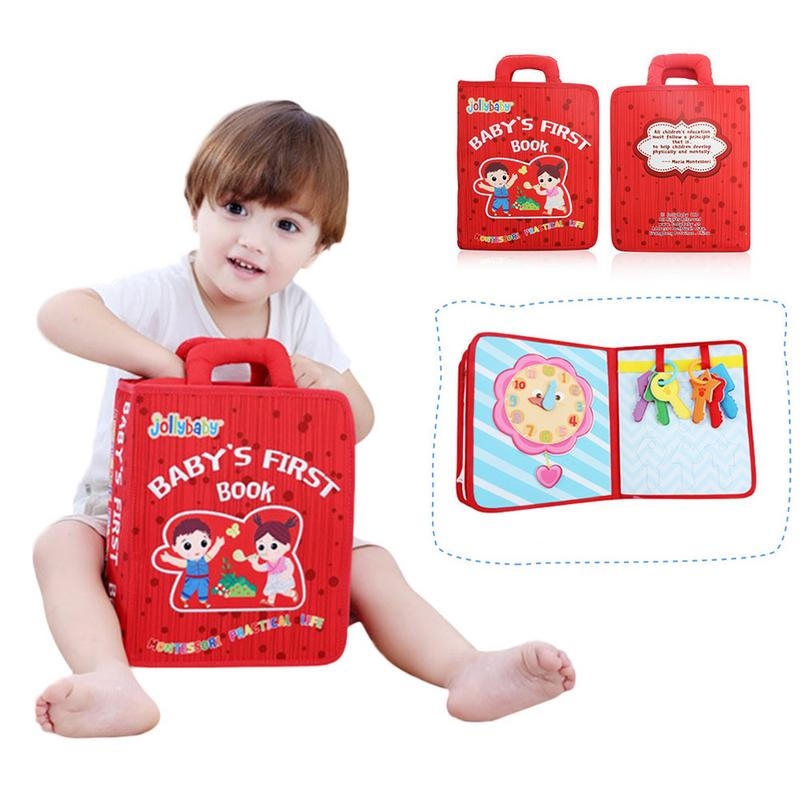 Nouveau Montessori éducation précoce bébé tissu livre bébé larme pas mal Puzzle lecture jouet Parent-enfant interactif apprentissage tissu livre - 2