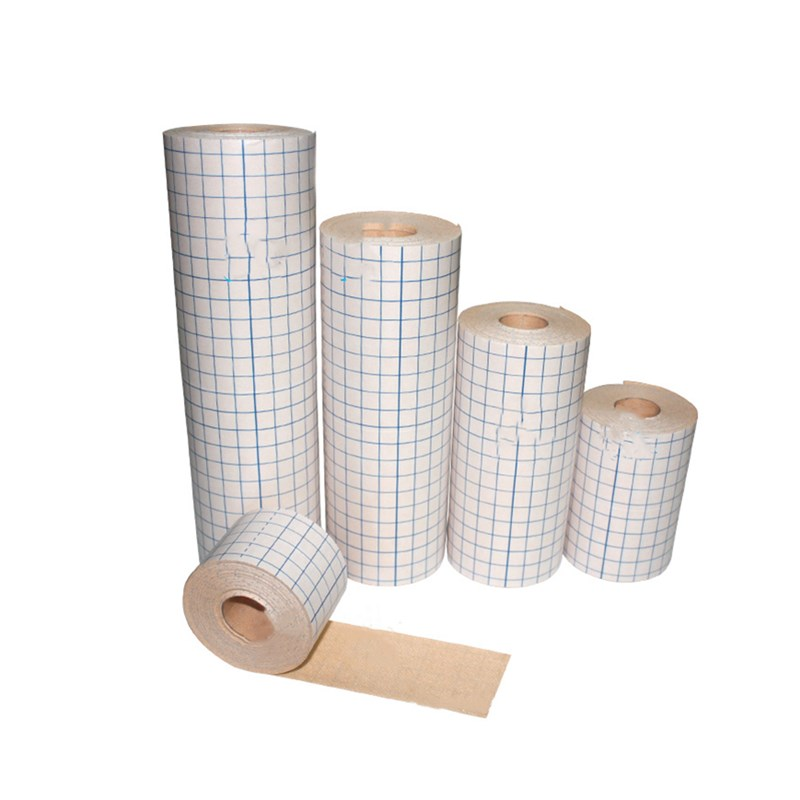 1 Roll Medical Fixation Tape Breathable Non-woven Adhesive Wound Dressing Bandage Skin Color Square Grid Design Feel Free To Cut
