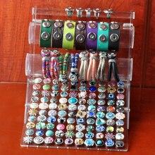 P00629 Newest snap button bracelet display fot 12mm 18mm 20mm button and bracelet for 100pcs(without button,bracelet)
