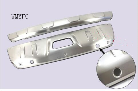For Nissan Rogue X-Trail 2014 2015 2016 Stainless Steel Front + Rear Bumper Protector Guard Skid Plate