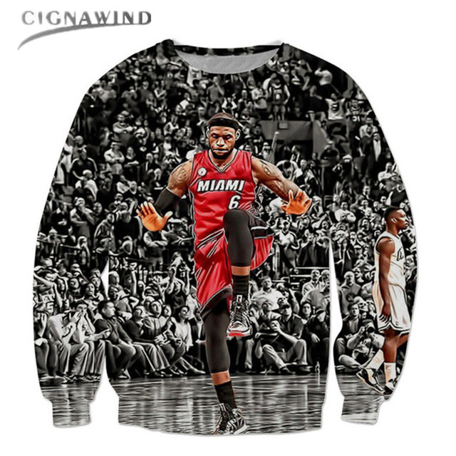 8a8d75d4 New character Lebron James Pullovers print 3d Men Womens Sweatshirts Long  Sleeve sweats Crew Neck Hoodies Unisex Outerwears