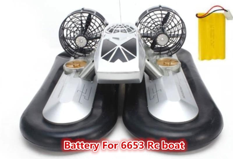 mAh bateria para 6653 Hovercraft Barco Rc peças de reposição da bateria
