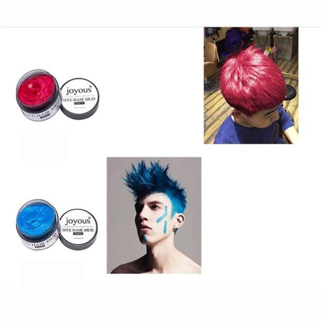jojous Joyous One time Dye Hair Dye Hair Spray Mud Cream Men\'s Hair ...