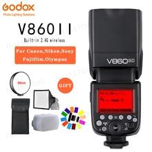 Godox Винг V860II V860II-S/N/C/F/O GN60 E-TTL HSS 1/8000 Li-Ion Батарея Вспышка Speedlite для sony Nikon Canon Olympus Fujifilm
