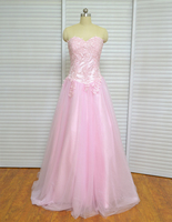 Real Photo Cheap Ball Gowns Sweet 16 Long Pink Girl Quinceanera Dresses Red For Quinceanera 15