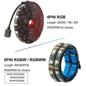 Image 3 - DC5V USB LED Strip 5050 RGB RGBW RGBWW 50 ซม.1 M 2M ทีวีแสงพื้นหลัง Flexibe LED Strip กาวเทป IP20/IP65 กันน้ำ
