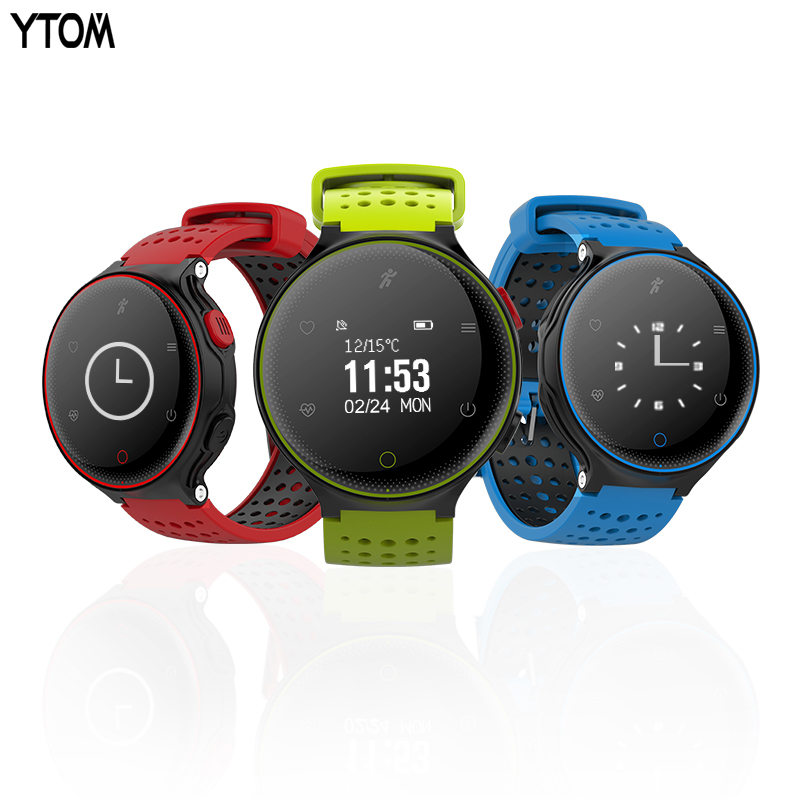 YTOM IP68 Sports Smart Watch Blood Pressure Fitness Tracker Heart Rate Monitor Professional Waterproof Bluetooth smartwatch X2 fs08 gps smart watch mtk2503 ip68 waterproof bluetooth 4 0 heart rate fitness tracker multi mode sports monitoring smartwatch