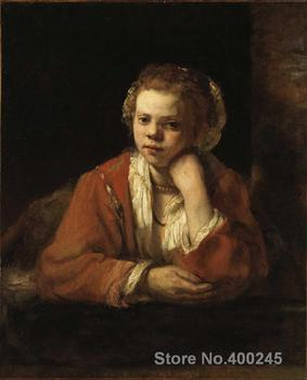 Portrait Art paintings The Kitchen Maid by Rembrandt van Rijn High quality Hand painted