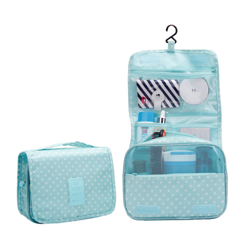 Hanging Toiletry Kit Clear Travel Storage Bag Cosmetic Carry Toiletry Pockets For Womens Gril Gift Traveling Bathroom