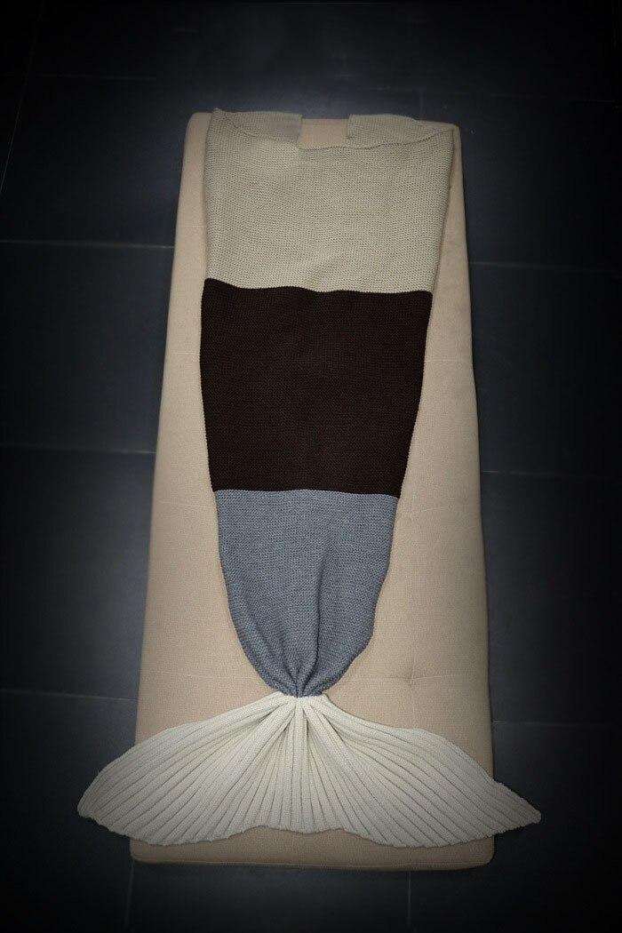 Wełna mieszane 180*80 cm dzianiny Syrenka Ogon syrenka koc Rzut koc dzieci dorosły dziecko Łóżko dzieci przewijać dziecko śpi torba