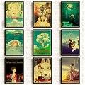 Аниме ретро-постеры Hayao Miyazaki, крафт-бумага, печатный Декор для комнаты, настенные постеры хорошего качества