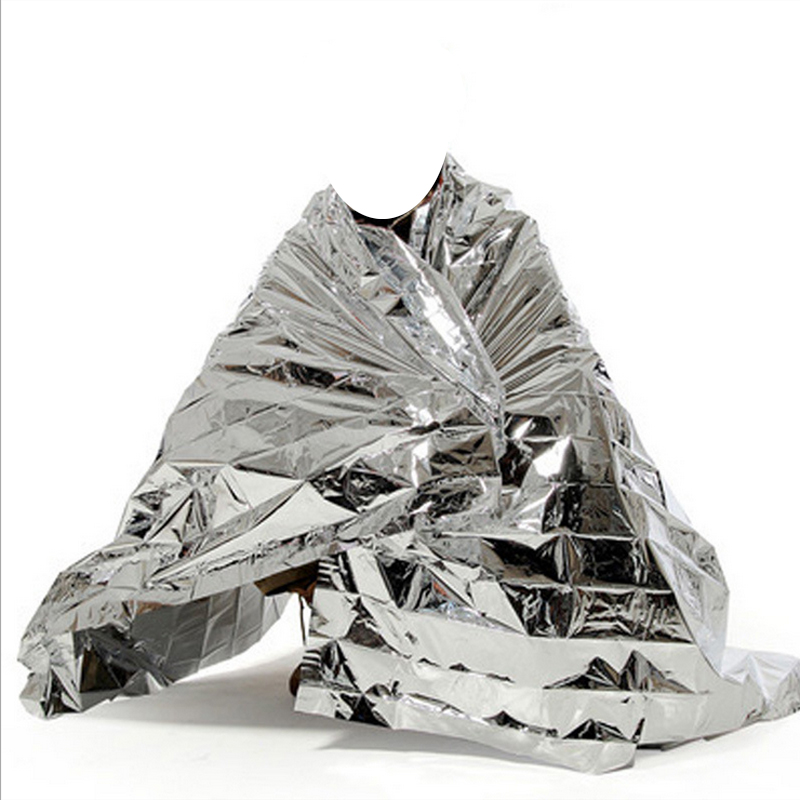 10pcs Water Proof Emergency Survival Camping Survival Sport Rescue Blanket Foil Thermal Space First Aid Sliver Curtain Outdoor