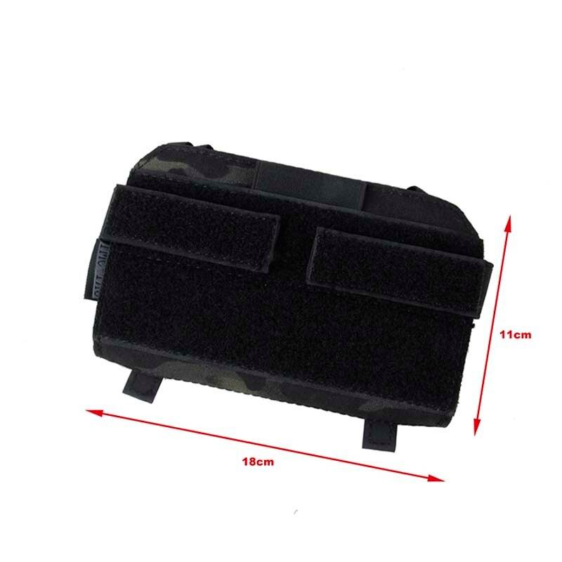 Gilet tactique spécial panneau avant sac de fixation TMC MT pochette d'administration (Multicam noir)