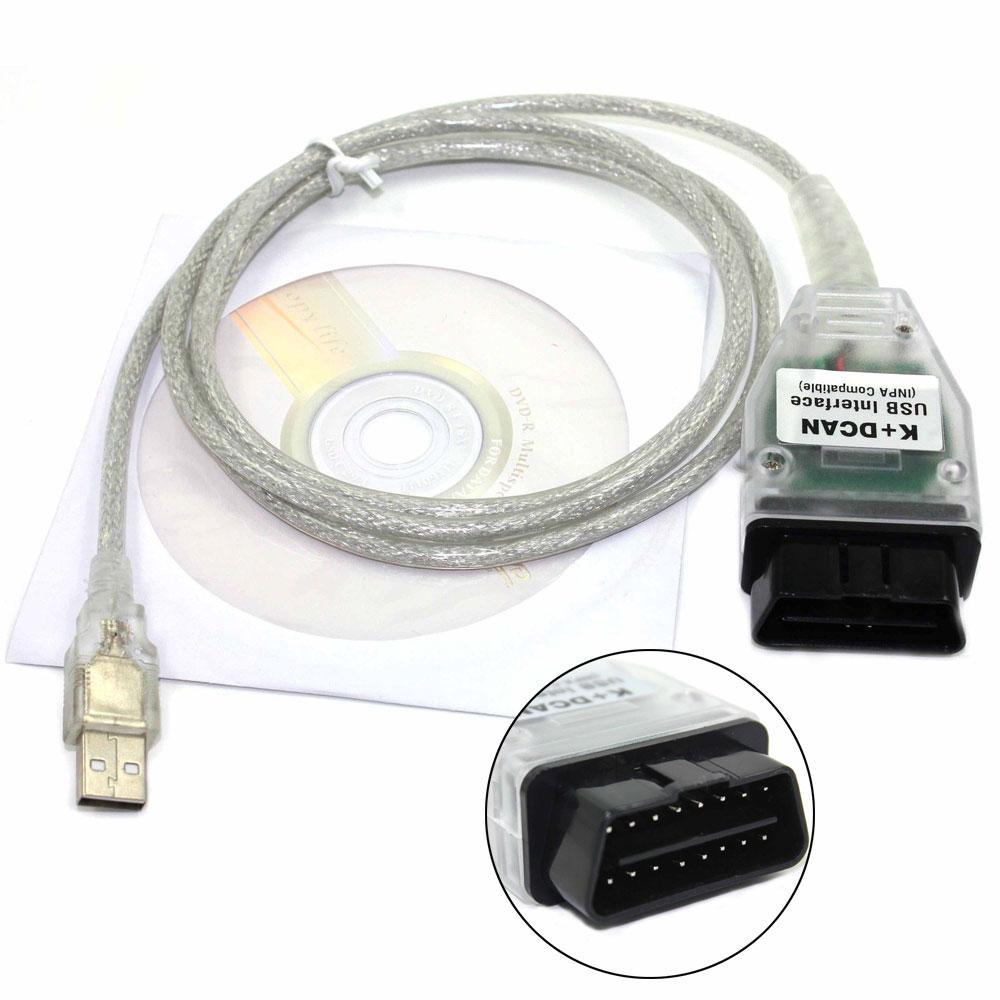 Prix pour OBD2 USB Câbles Pour BMW INPA Ediabas K + DCAN USB Interface Pour BMW E46 INPA K + CAN K PEUT INPA FT232RL Puce Outil De Diagnostic