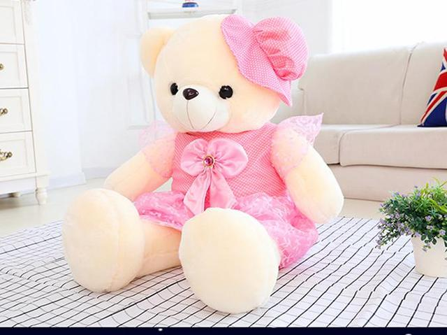 Cute Lamb Stuffed Animals, 50cm Stuffed Plush Toys Led Colorful Glowing Teddy Bear For Kids Night Light Cute Lovely Soft Bear In Dress Gifts Birthday Party Kid Gift Mall