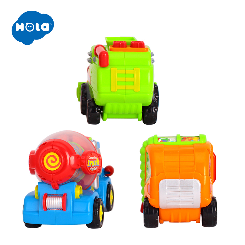 HOLA 386 Wholesale Baby Toys Push & Go Friction Powered Car Toy Trucks Children Pretend Play Toys Great Xmas Gifts