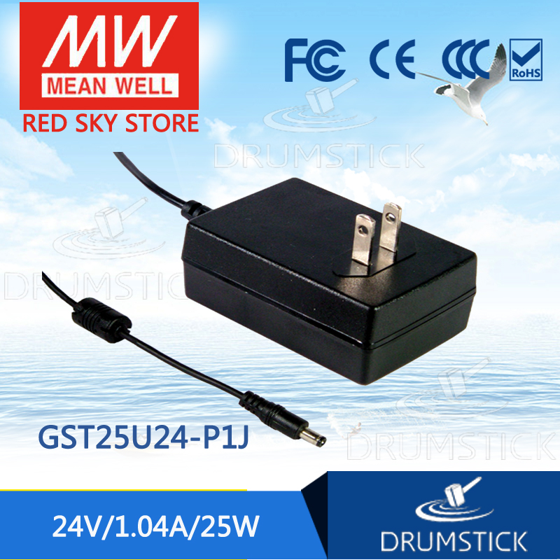 Only 11 11 MEAN WELL GST25U24 P1J 6Pcs 24V 1 04A meanwell GST25U 24V 25W